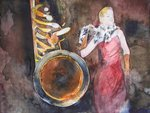 Queen of Jazz © Aquarell von Frank Koebsch